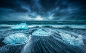 Iceland, ice, sea, shore