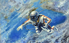 Alexei Leonov, March 18, 1965, astronaut, man, space, planet, land, ussr, space suit, camera, picture, 1973