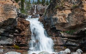 cascata, cascate, natura, paesaggio, estate