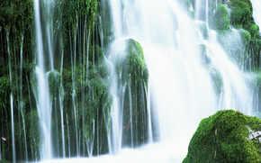 waterfall, waterfalls, water, FLOW, summer, landscape, nature