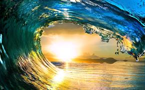 acqua, mare, onde, sole