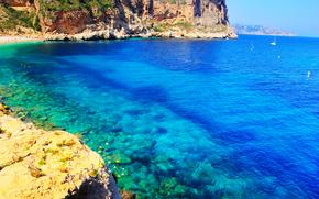 море, берег, скалы, пейзаж
