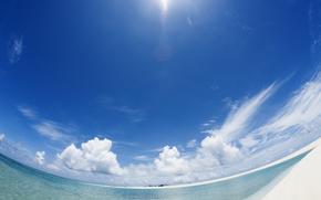 вода, море, океан, природа, небо, облака