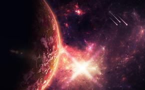 Weltraum, 3d, art