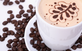 coffee, Single Drink, drinks, coffee beans, cup, skin, cappuccino