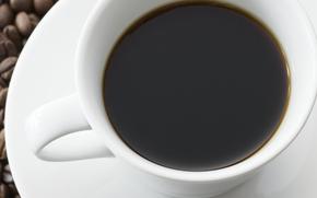 kawa, pić, napoje, ziarna kawy, puchar