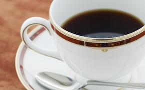 kawa, pić, napoje, puchar
