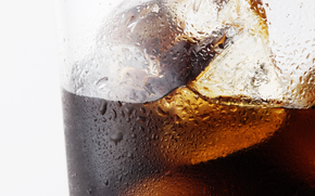 kawa, pić, napoje, puchar, szkło, lód