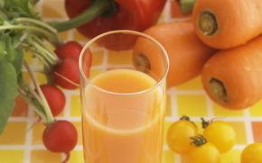 sok, roślinny, warzywa, pomocny, pić
