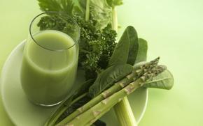 succo, ortaggio, sedano, verdi, utile, bere