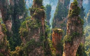 Montañas, naturaleza, paisaje, como Pandora de Avatar, belleza
