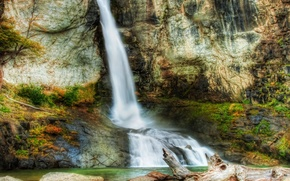 waterfall, waterfalls, landscape, nature, Rocks, stones