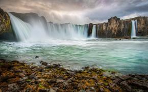 cascata, fiume, puntellare, Rocce, natura, paesaggio