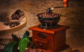 caffè, Grano, fogliame, laminatoio di caffè