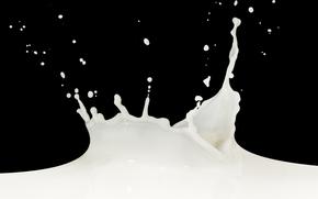 молоко, капли, брызги