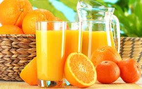 Cocktails, drinks, orange