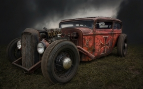 Hot Rod, Rat Rod, hot-rod, retro