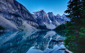 Moraine Lake, Banff, Rocky Mountain, Canada, paysage