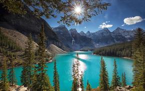 Lago Moraine, Banff, Rocky Mountain, Canada, paesaggio