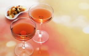 бокалы, вино, спиртные напитки, алкоголь
