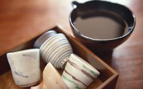 посуда, чашки, напиток