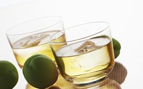 wine glasses, drink, alcohol, ice