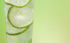 drink, lime, ice, glass