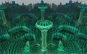 symmetry, geometry, abstraction, fractals, Rendering, 3d