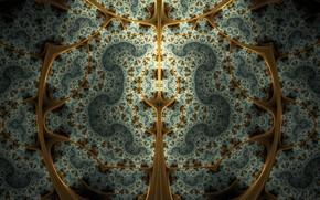 simetría, geometría, patrón, abstracción, fractales, caleidoscopio