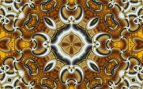 simetria, geometria, padrão, abstração, fractais, caleidoscópio