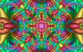 simmetria, geometria, modello, astrazione, frattali, caleidoscopio