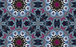 symetria, geometria, wzorzec, abstrakcja, fraktale, kalejdoskop