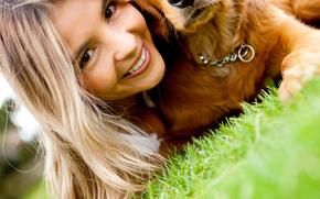 狗, 狗, 动物, 小狗, 小狗, 女孩, 友谊