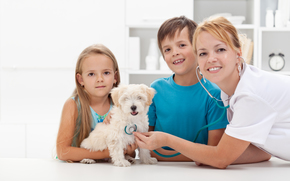 dog, Dog, animals, puppy, Puppies, children, doctor, slushalka, health