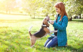 dog, Dog, animals, puppy, Puppies, girl, park, tour