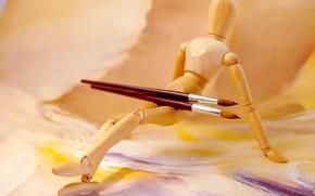 Cartoleria, per gli artisti, spazzolare, modello umano, vernici, carta