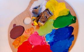 канцелярские принадлежности, для художников, краски, оттенки, цвет, палитра, масло