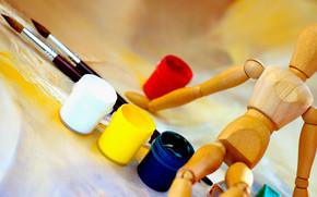 Cartoleria, per gli artisti, spazzolare, modello umano, vernici