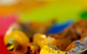 канцелярские принадлежности, для художников, краски, оттенки, цвет, тюбики, масло, палитра