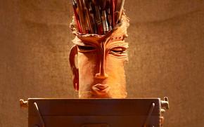 Papelería, para los artistas, cepillar, Párese, cerámica, caballete