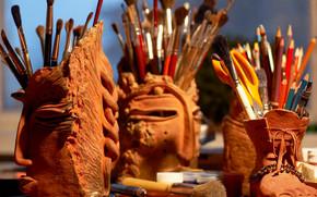 Briefpapier, für Künstler, bürsten, Untersetzer, Keramik, Schaffung