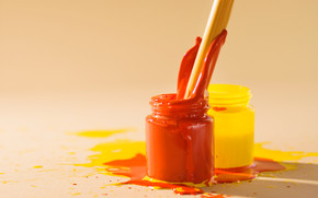 Stationery, for artists, paints, COLOR, stains, cans, creation