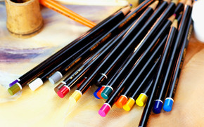 Stationery, for artists, paints, COLOR, Pencils, cans, creation