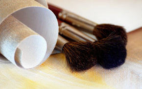 Stationery, for artists, canvas, brush