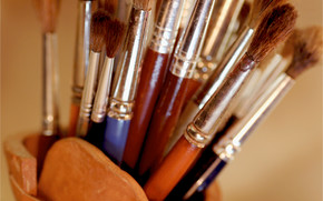Stationery, for artists, brush, Stand