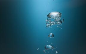 текстура, вода, пузыри, капли, брызги, всплеск, макро, фон