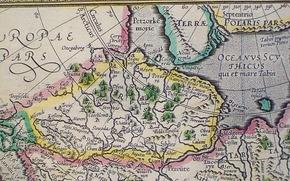 Les cartes anciennes, navigation, Composé dans le passé lointain, trempé dans mers et des océans de vent salé