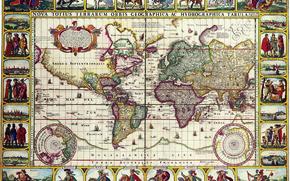 Старые карты, навигации, Составленные в далекие времена, пропитанные солеными ветрами морей и океанов