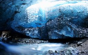 ice, glacier, nature, winter