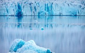 лед, ледник, водоем, зима, природа